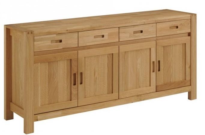 buffet 4 portes 4 tiroirs bois massif ch ne huil margot. Black Bedroom Furniture Sets. Home Design Ideas