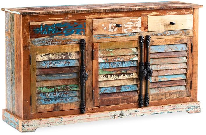 Buffet Bois Recyclé : buffet bois recycl peint la main artiste ~ Teatrodelosmanantiales.com Idées de Décoration