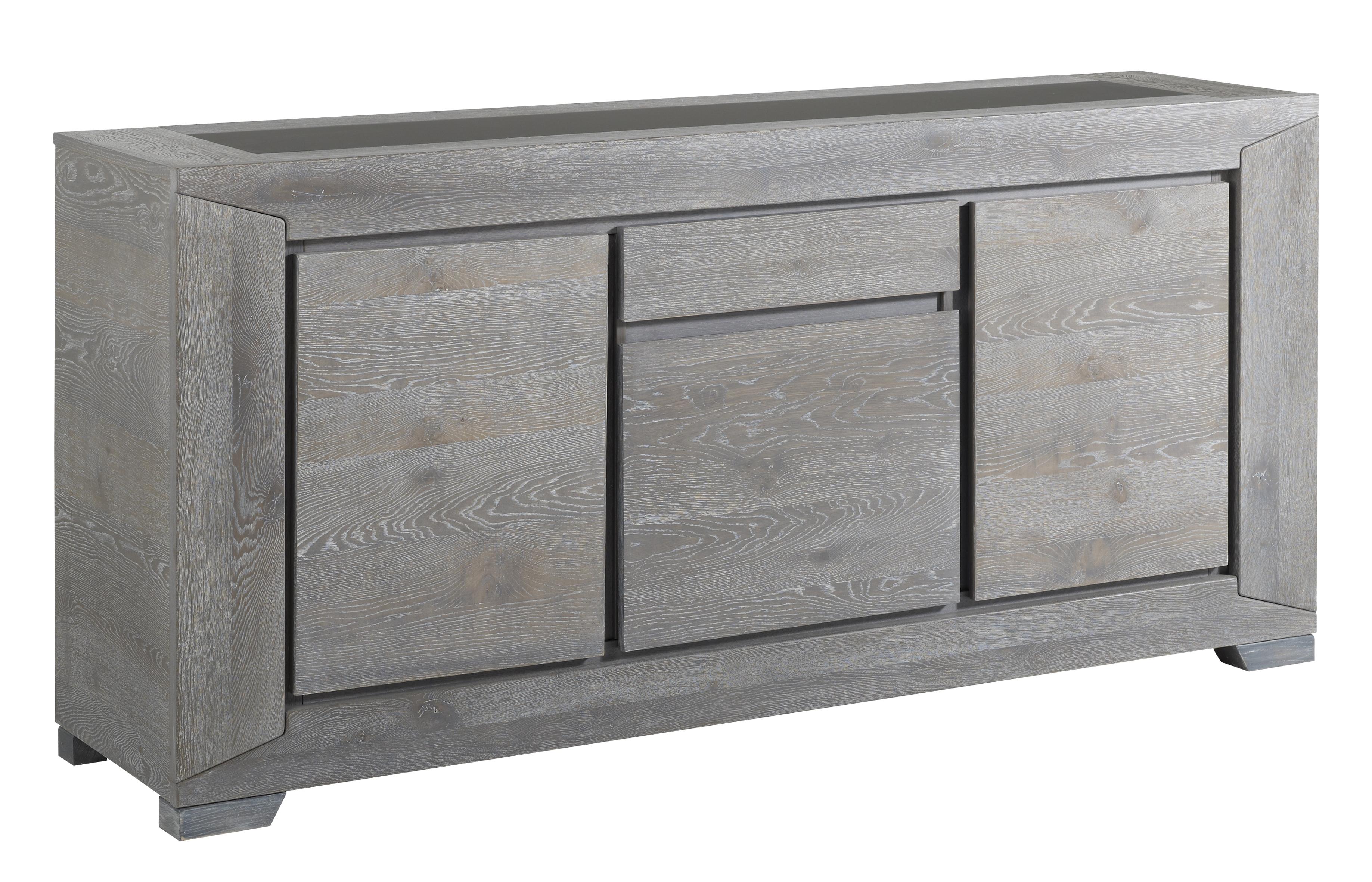 enfilade 3 portes ch ne gris bella. Black Bedroom Furniture Sets. Home Design Ideas
