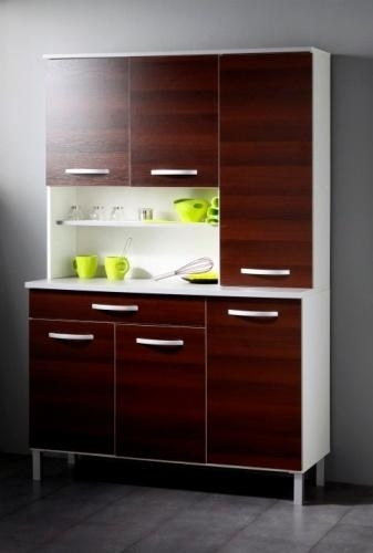 buffet de cuisine marron smoothy. Black Bedroom Furniture Sets. Home Design Ideas