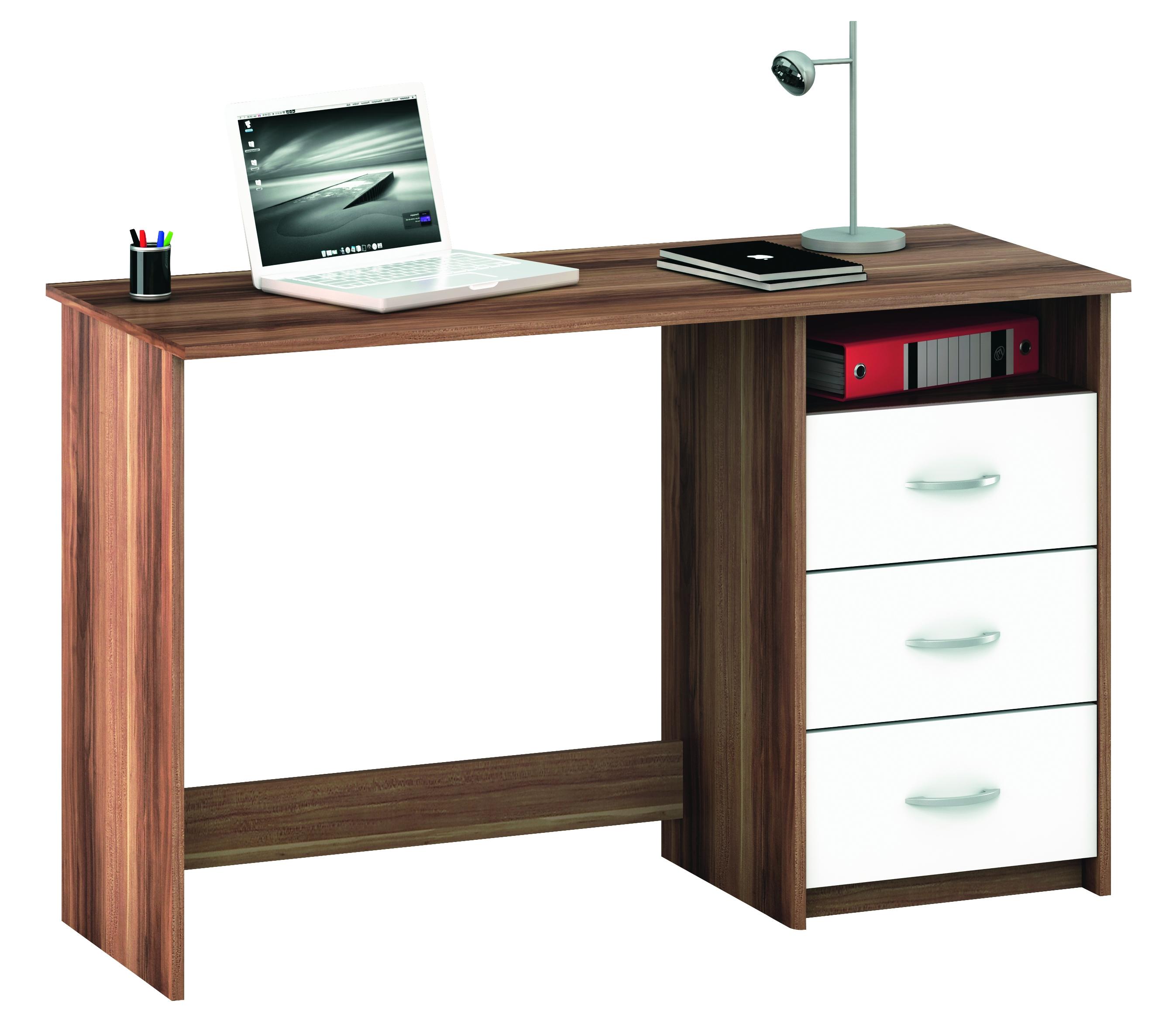 Bureau 1 caisson 3 tiroirs merano aristote - Caisson bureau 3 tiroirs ...