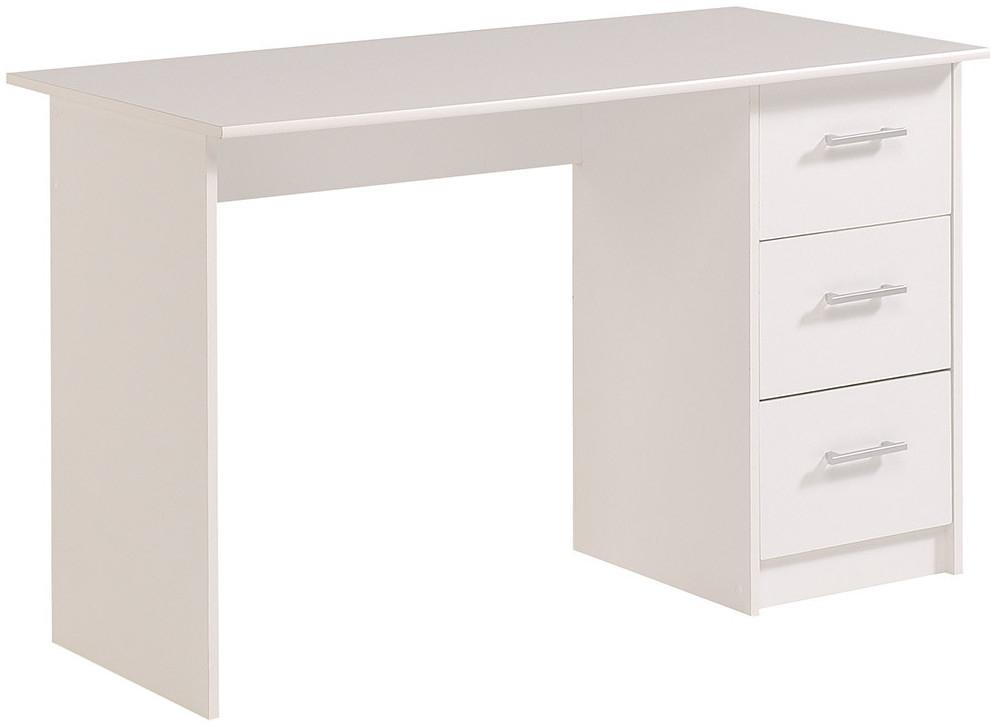 bureau 3 tiroirs blanc tifany. Black Bedroom Furniture Sets. Home Design Ideas