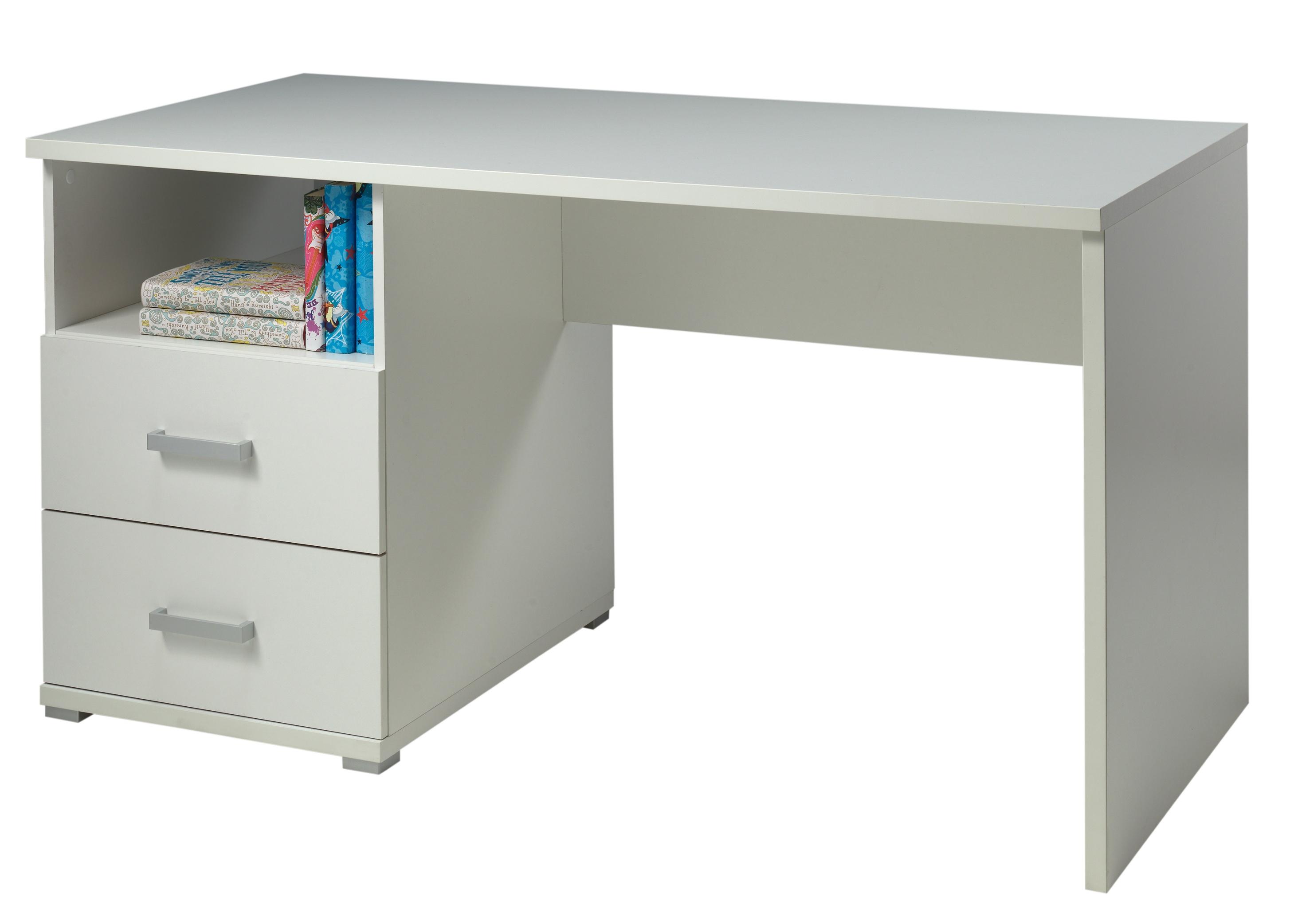 Bureau bois laqué blanc moderne lestendances