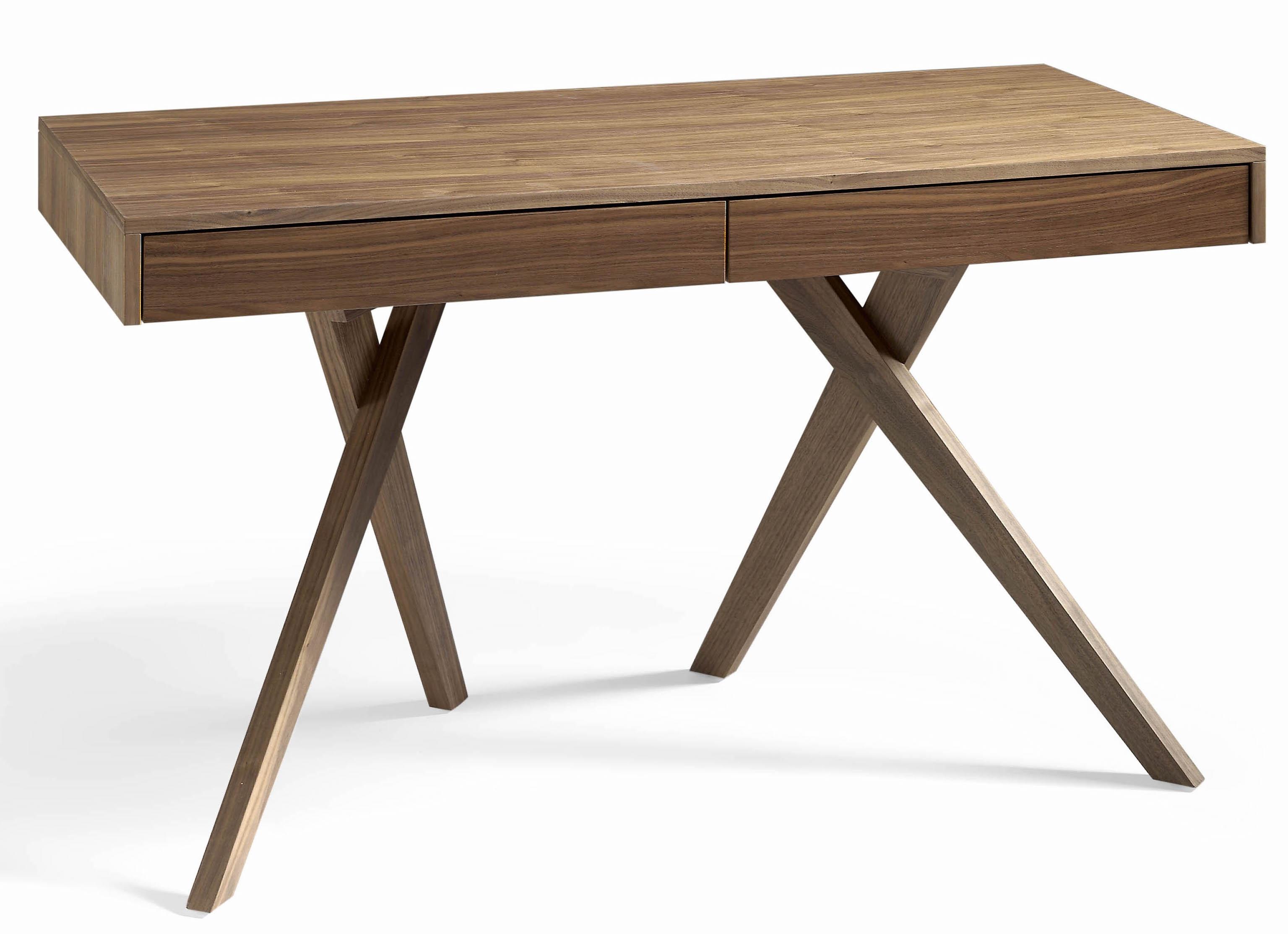 bureau bois noyer koza. Black Bedroom Furniture Sets. Home Design Ideas