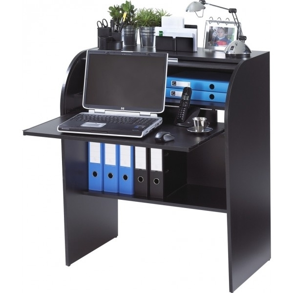 Bureau informatique noir smile for Console bureau informatique