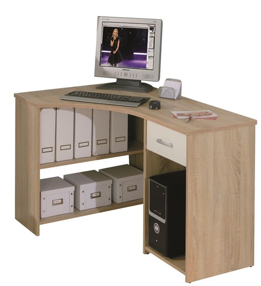 bureau d 39 angle 1 tiroir ch ne de sonoma caprera. Black Bedroom Furniture Sets. Home Design Ideas