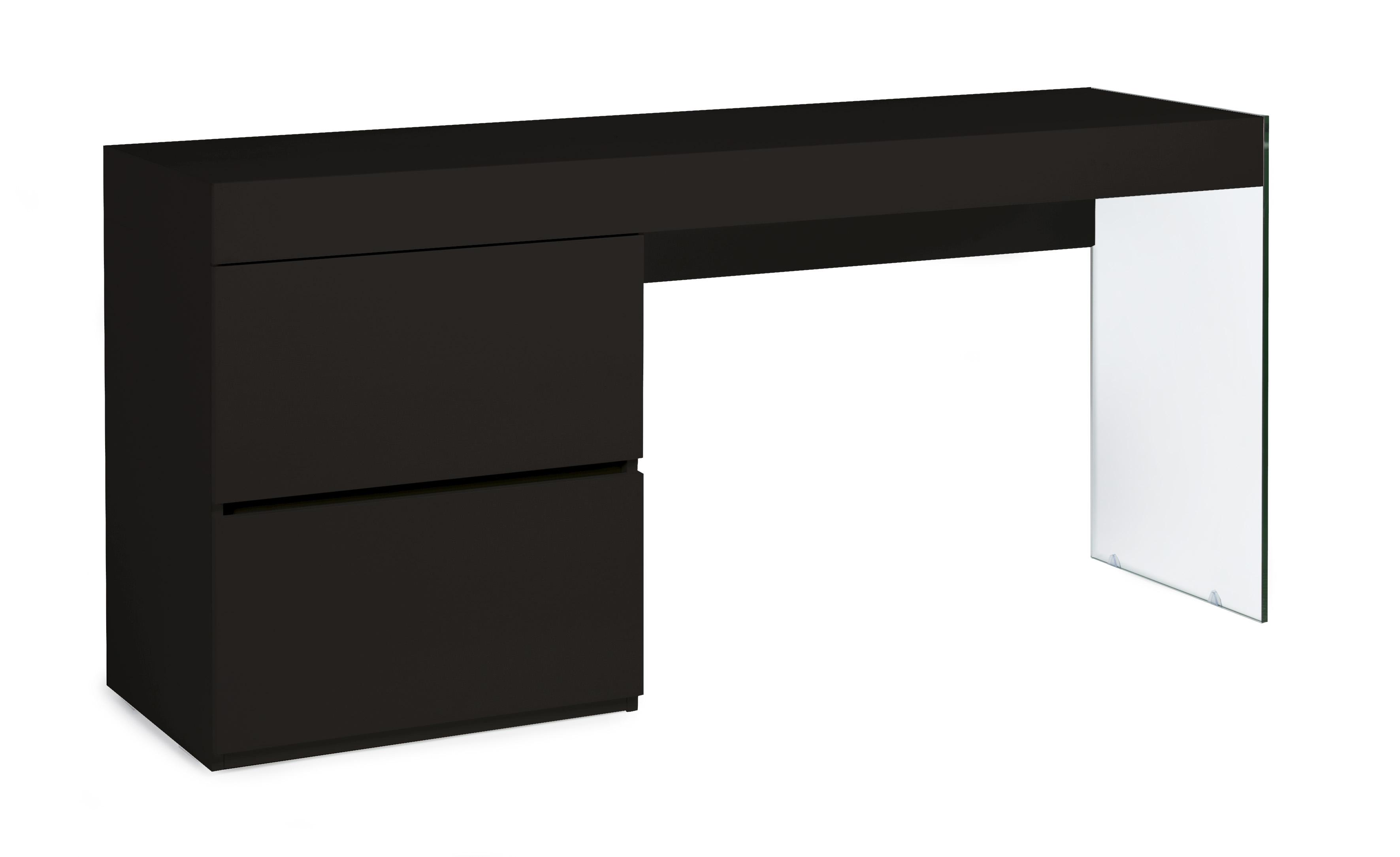 Bureau design noir laqué cubique lestendances.fr