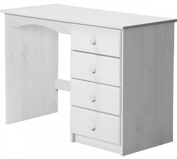 bureau enfant pin massif blanc aladin. Black Bedroom Furniture Sets. Home Design Ideas