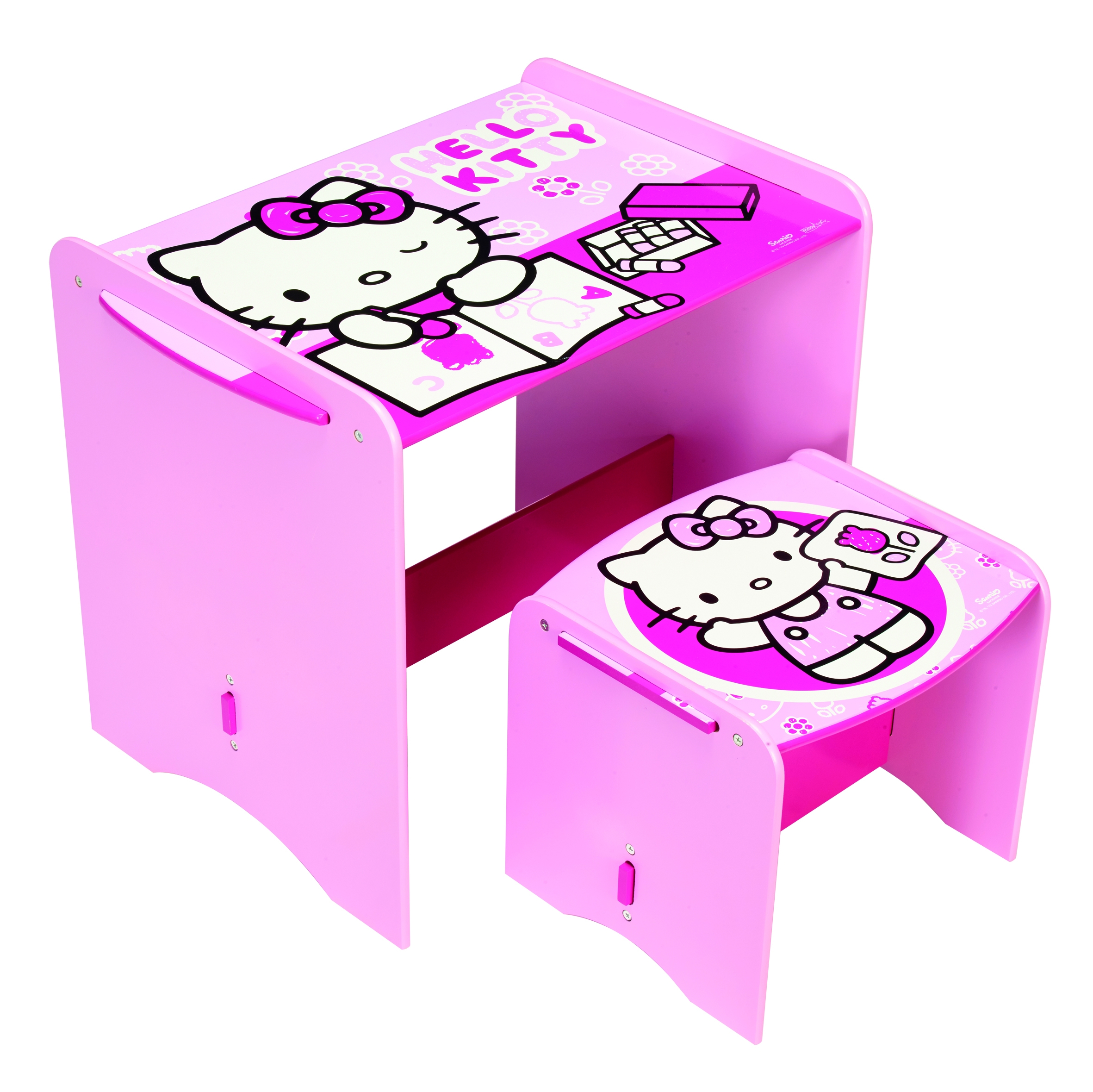 bureau et chaise hello kitty. Black Bedroom Furniture Sets. Home Design Ideas