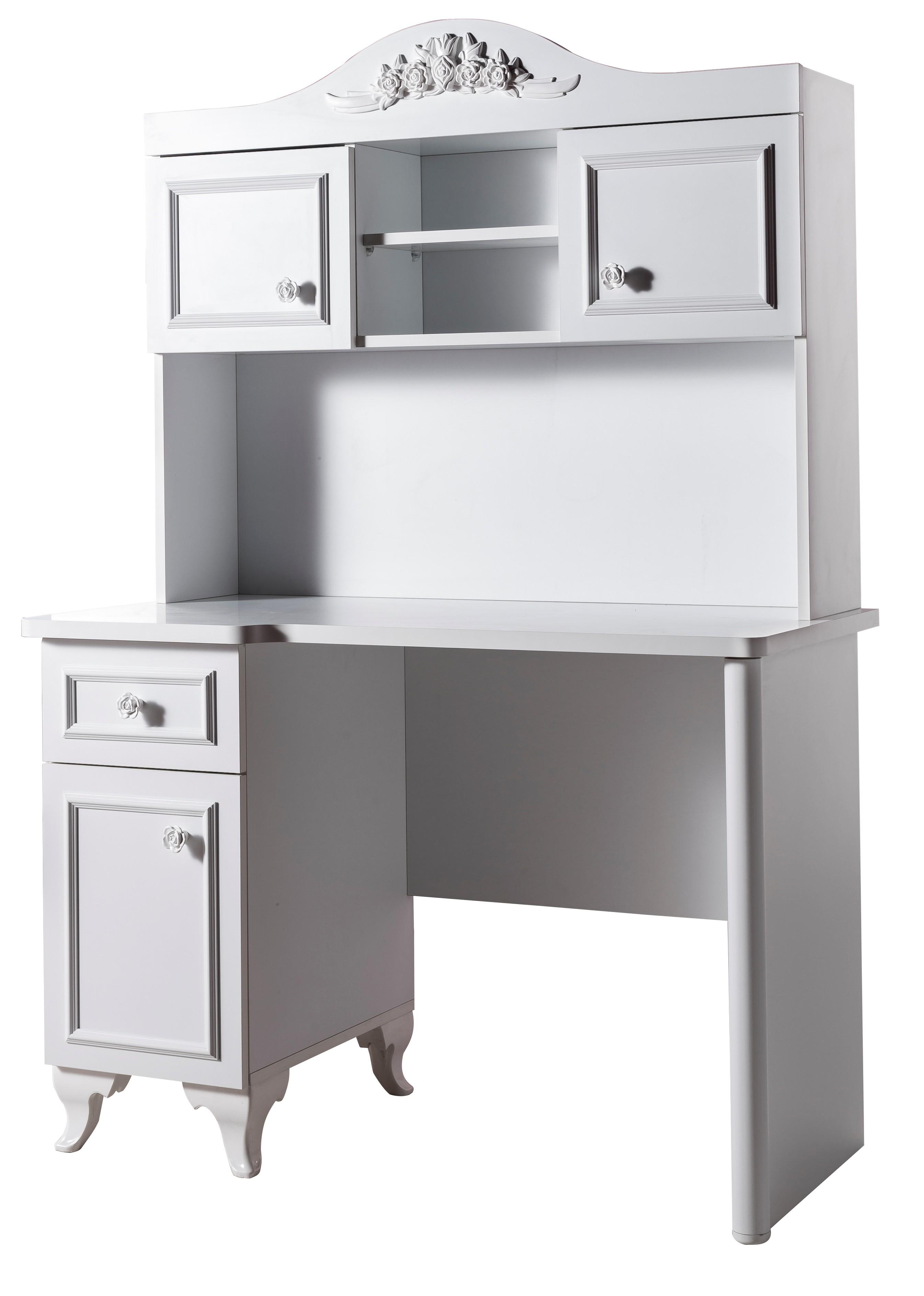 bureau fille blanc sir ne. Black Bedroom Furniture Sets. Home Design Ideas