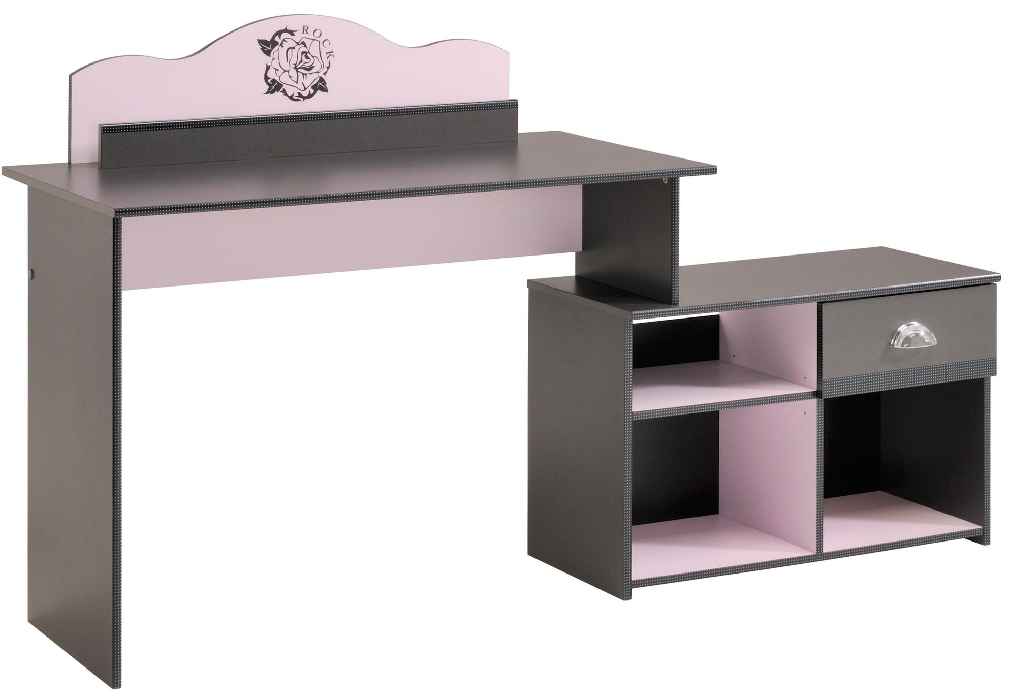 bureau gris et rose glamour lestendancesfr
