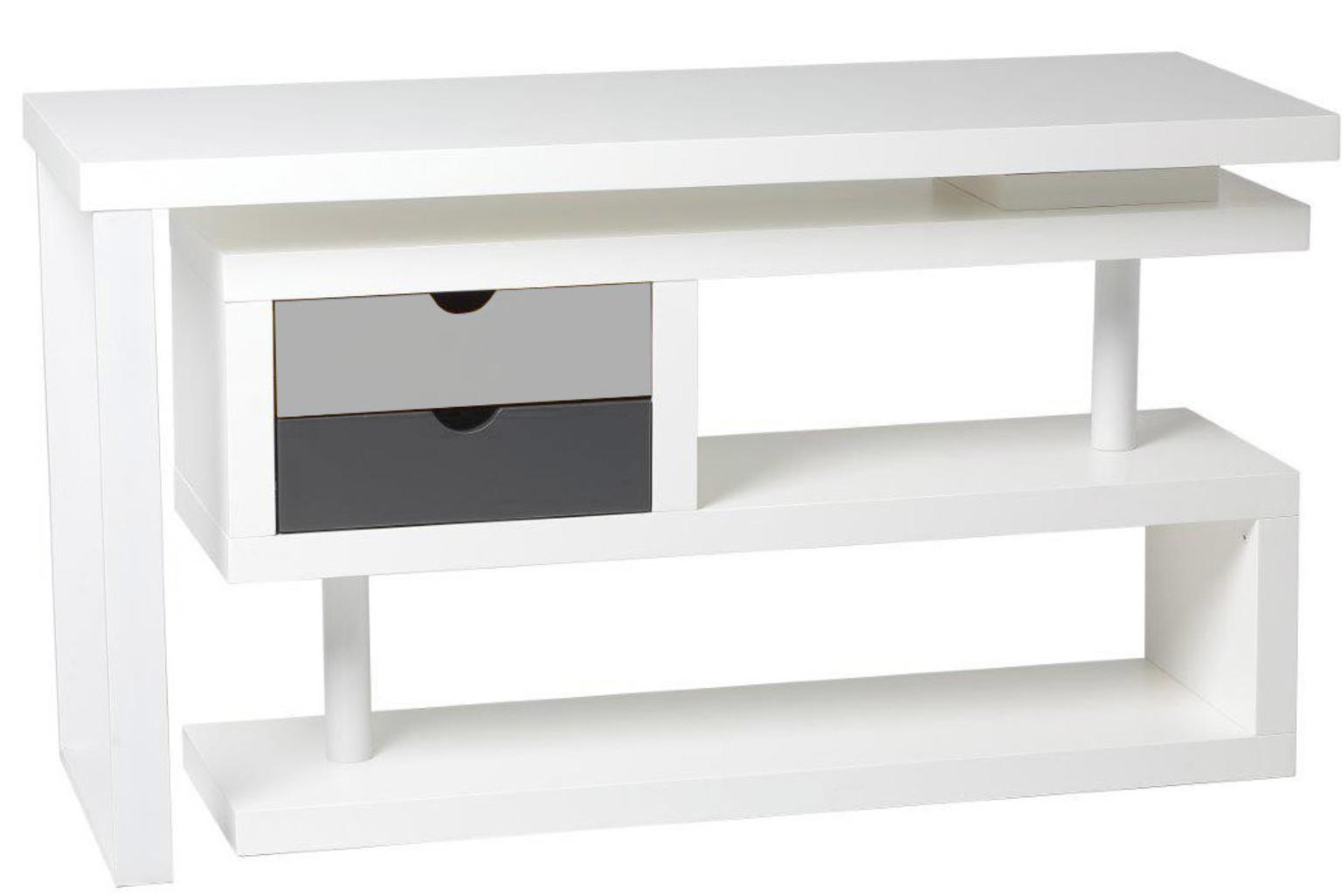 bureau angle pivotant laqu blanc topten. Black Bedroom Furniture Sets. Home Design Ideas