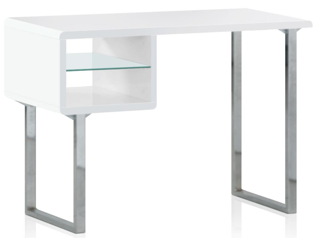 bureau laqu blanc john. Black Bedroom Furniture Sets. Home Design Ideas