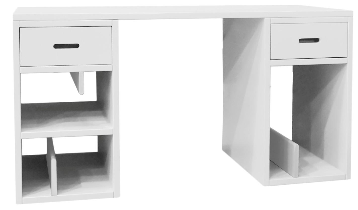 bureau laqu blanc madaket. Black Bedroom Furniture Sets. Home Design Ideas