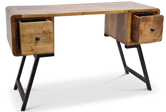 bureau original bois recycl et m tal