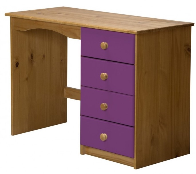 bureau pin massif naturel et lilas aladin. Black Bedroom Furniture Sets. Home Design Ideas