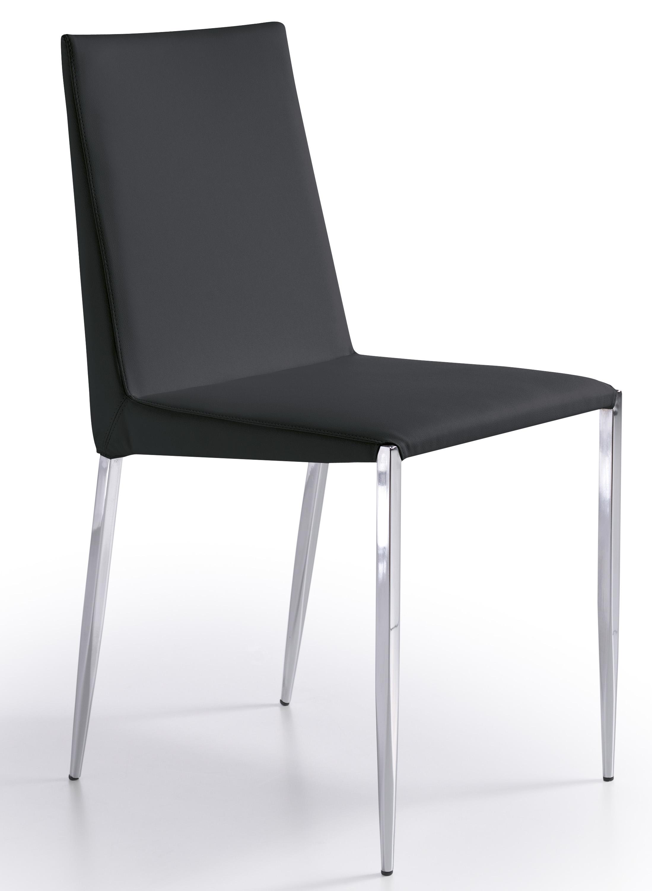 Chaise design noir oliva lot de 2 for Chaise noire design