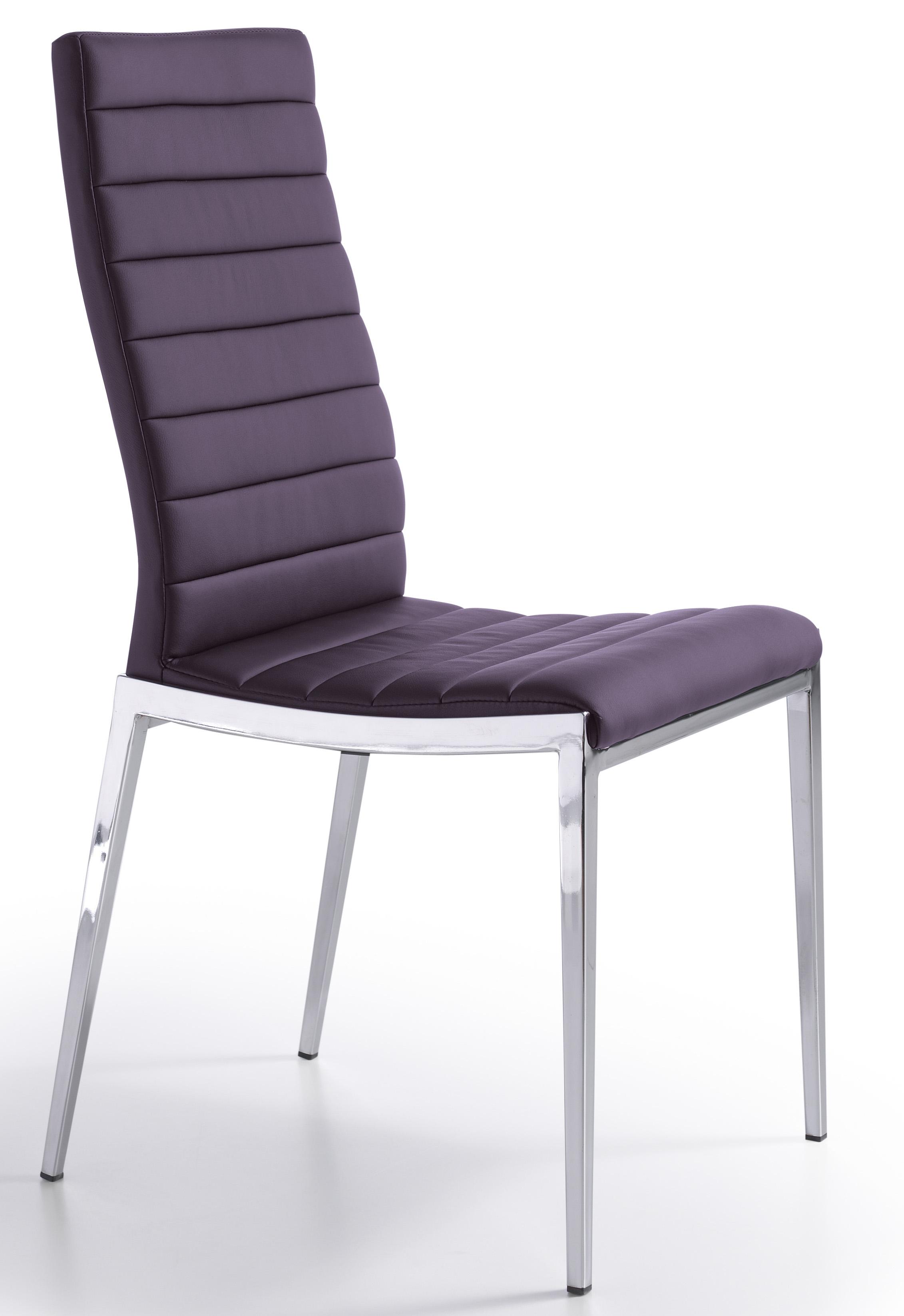 chaise design matelass e violet dona lot de 2. Black Bedroom Furniture Sets. Home Design Ideas