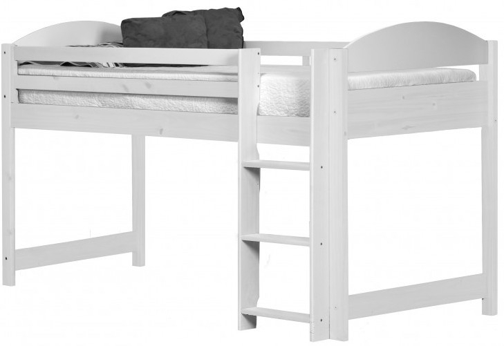 lit mezzanine mi haut bois blanc aladin. Black Bedroom Furniture Sets. Home Design Ideas