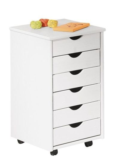 caisson de bureau en pin massif blanc simon. Black Bedroom Furniture Sets. Home Design Ideas