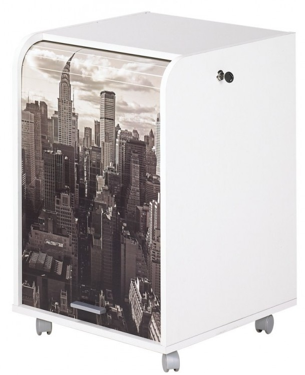 Caisson de bureau orga blanc 70 cm new york for Bureau 70 cm largeur
