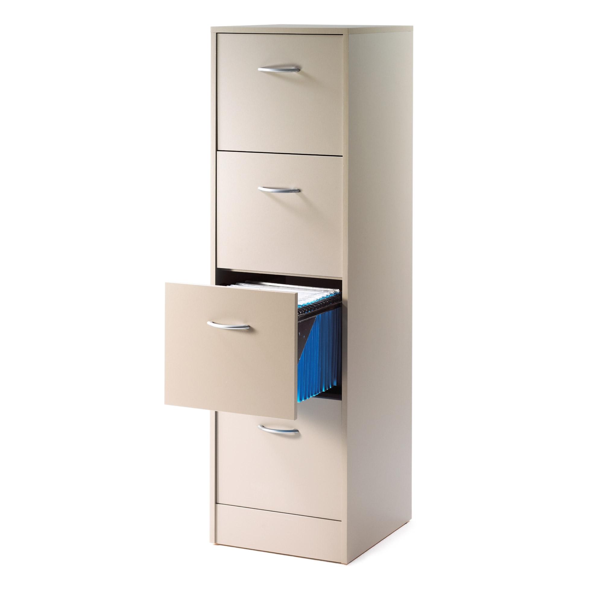 classeur 3 tiroirs pour dossiers suspendus taupe rank. Black Bedroom Furniture Sets. Home Design Ideas