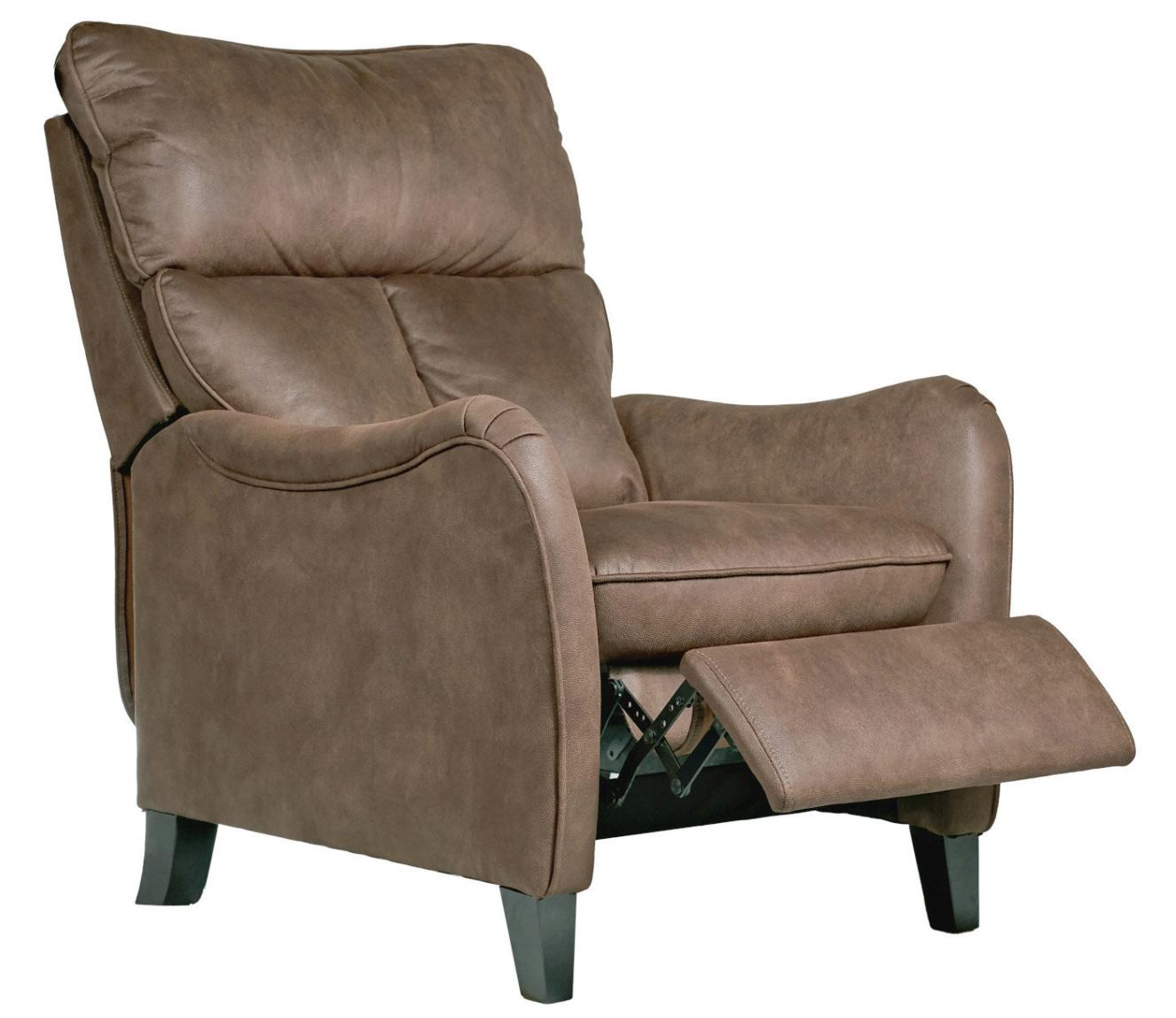 Fauteuil de relaxation manuel microfibre marron clair mika - Fauteuil de relaxation ...