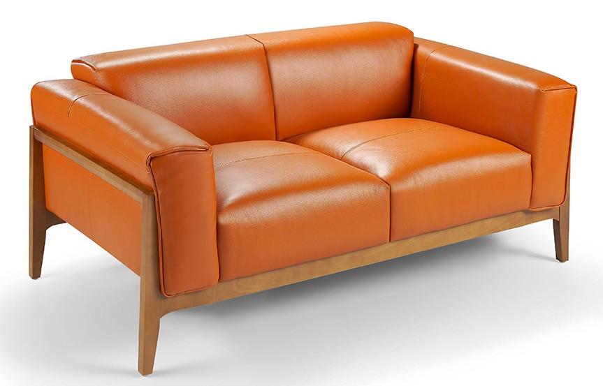 canap 2 places haut de gamme bois noyer et cuir kilane couleur aqua 00 blanc. Black Bedroom Furniture Sets. Home Design Ideas
