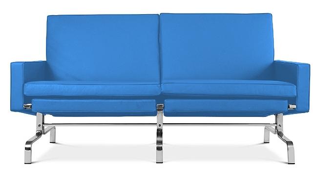canap 2 places haut de gamme simili bleu clair barca. Black Bedroom Furniture Sets. Home Design Ideas
