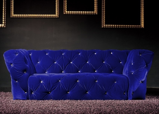 canap 2 places velours bleu royal chesterfield. Black Bedroom Furniture Sets. Home Design Ideas