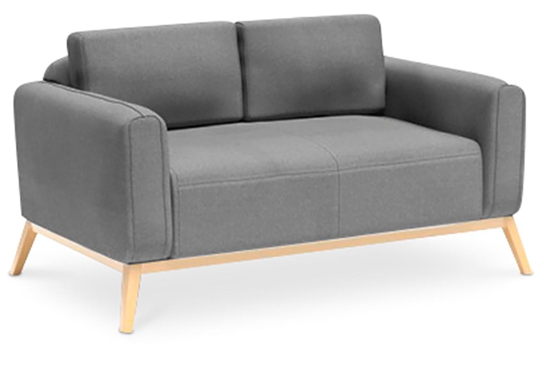 canap 2 places scandinave tissu gris clair k vin. Black Bedroom Furniture Sets. Home Design Ideas
