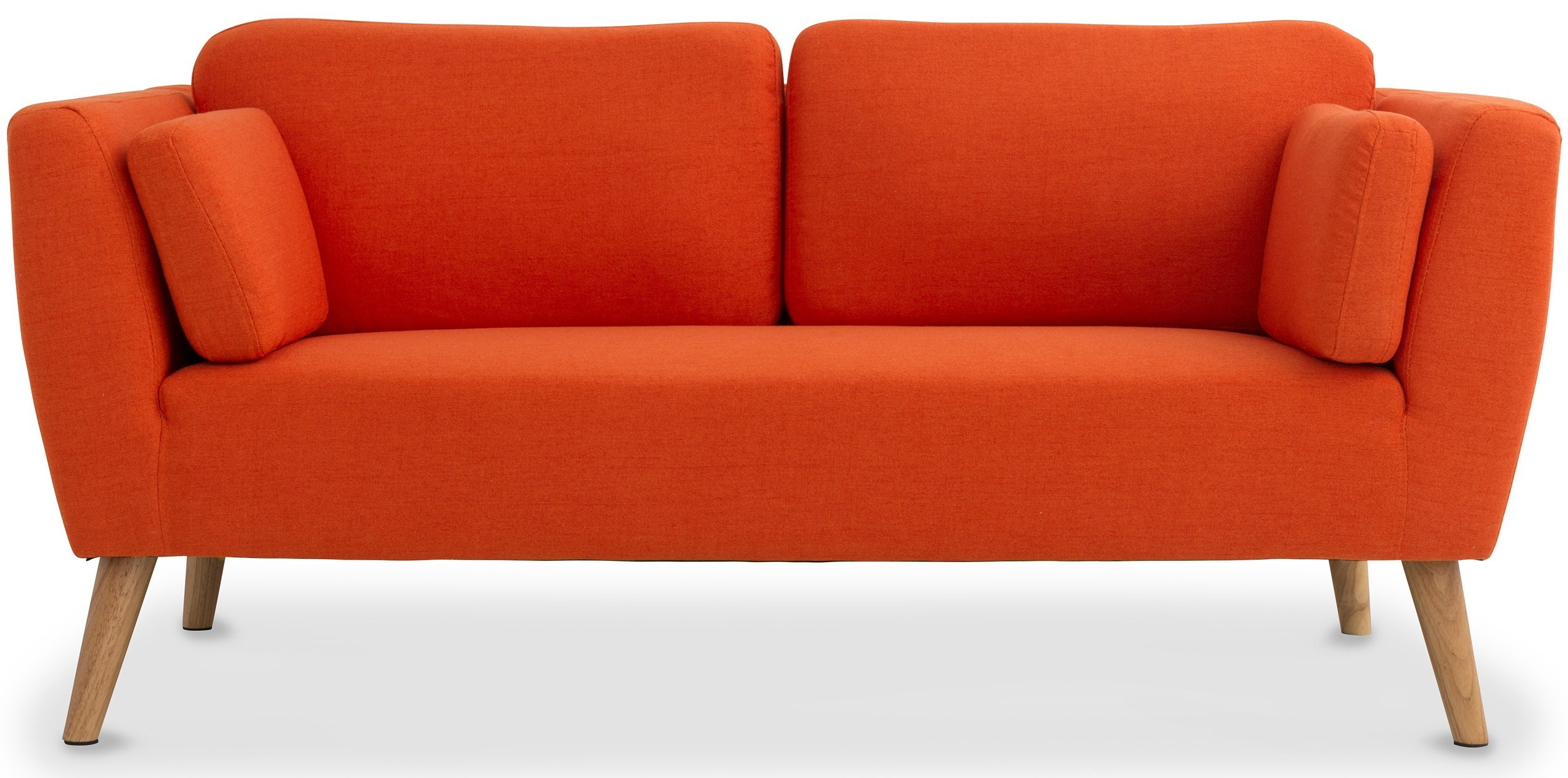 Canapé 2 places scandinave tissu orange Fria   LesTendances.fr 706ab0719b92