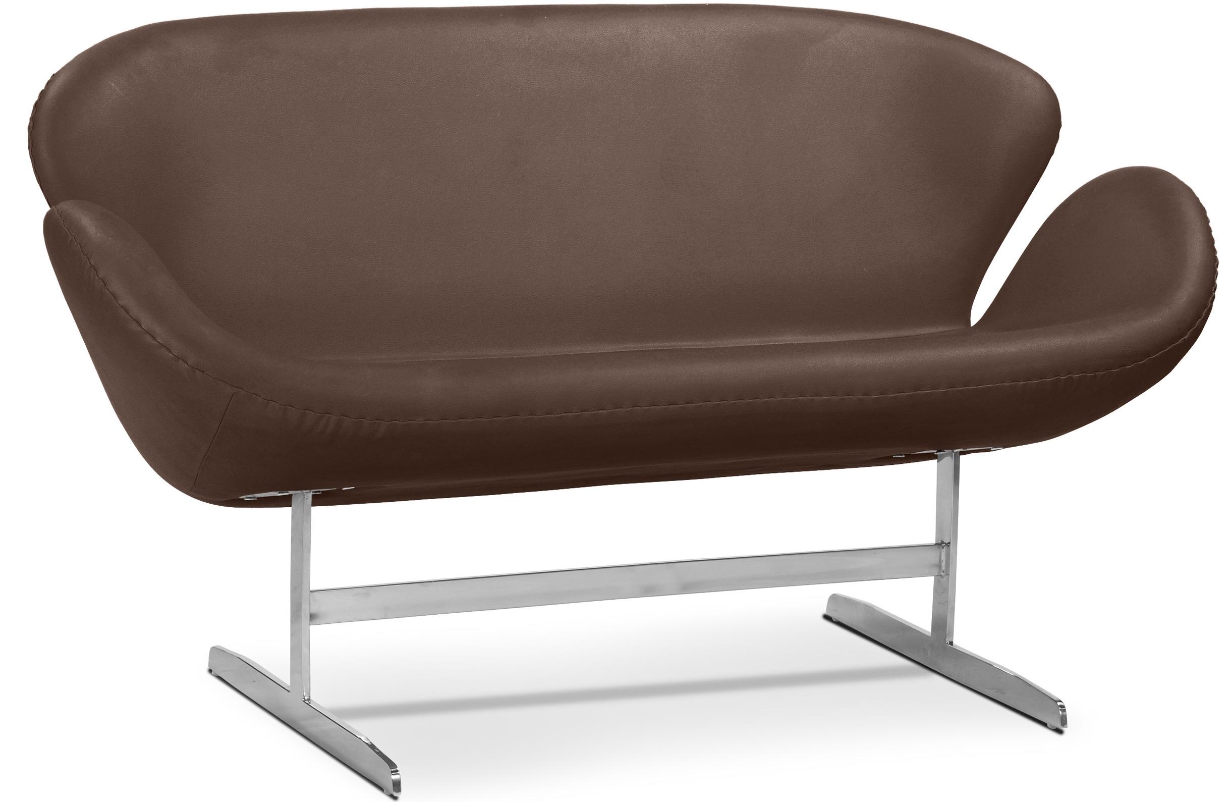 canap 2 places simili marron cygne. Black Bedroom Furniture Sets. Home Design Ideas