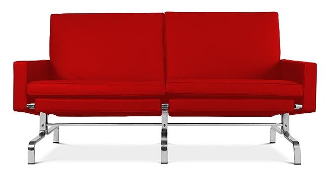 canap 2 places haut de gamme simili rouge barca. Black Bedroom Furniture Sets. Home Design Ideas