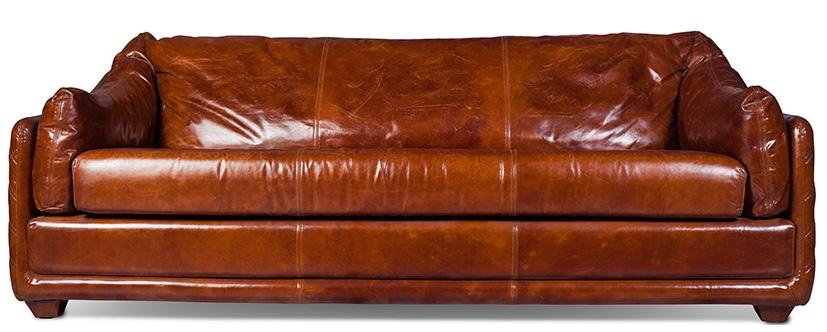 Canape 3 places cuir brun vintage blow lestendancesfr for Formation decorateur interieur avec canapé cuir brun