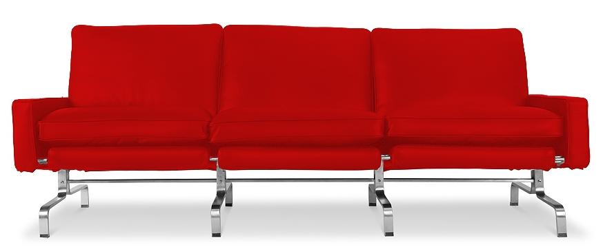 canap 3 places haut de gamme simili rouge barca. Black Bedroom Furniture Sets. Home Design Ideas