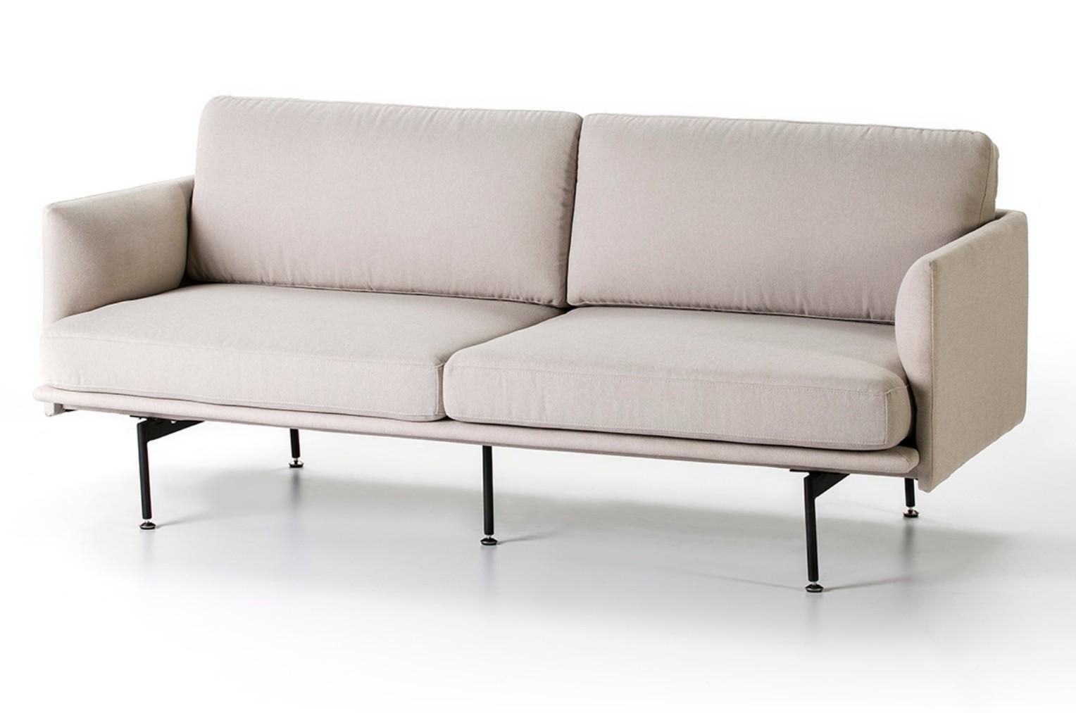 canapé 3 places moderne tissu beige dafnée l 170 cm   lestendances.fr