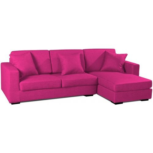 canap angle droit tissu fuchsia inspir boretti. Black Bedroom Furniture Sets. Home Design Ideas