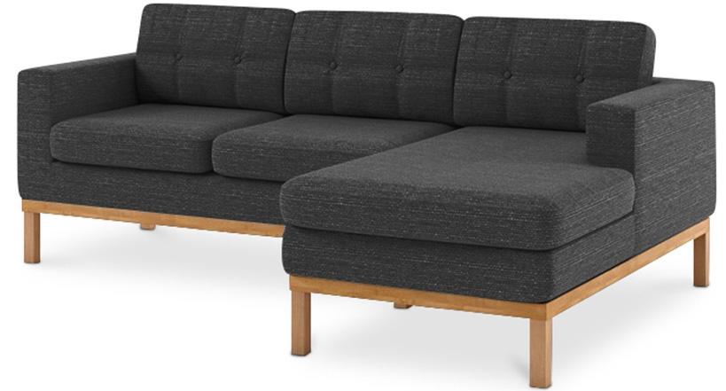 canap angle droit tissu gris fonc nordique. Black Bedroom Furniture Sets. Home Design Ideas