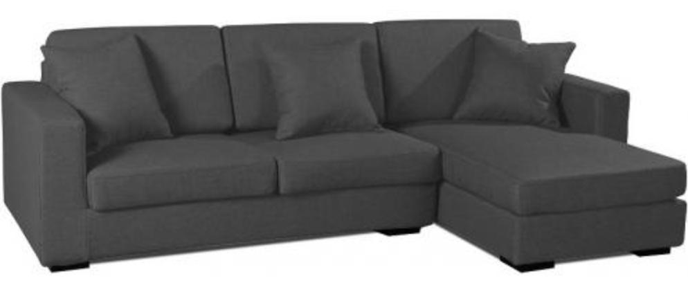 canap angle droit tissu lin gris fonc boty inspir boretti. Black Bedroom Furniture Sets. Home Design Ideas