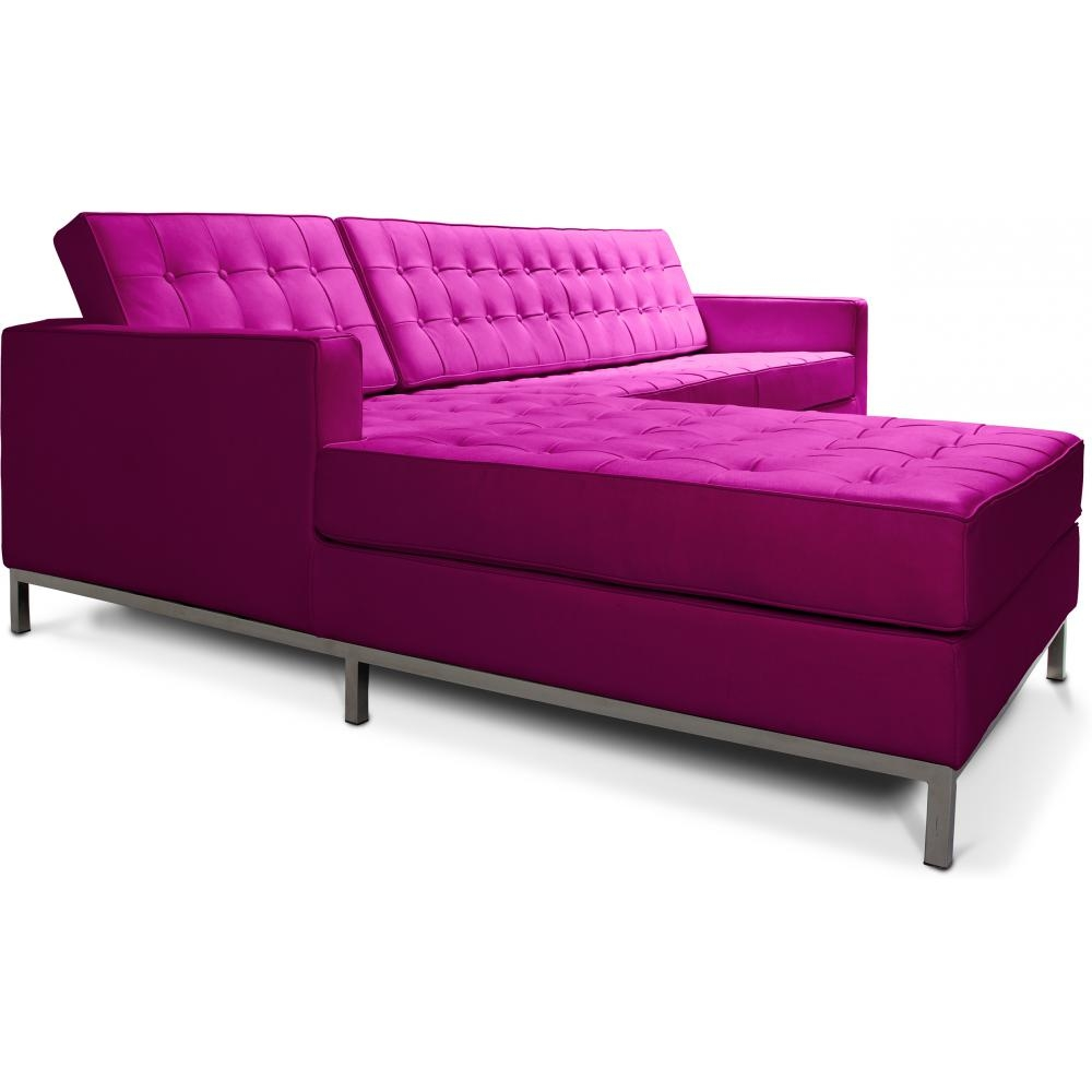 canap angle gauche simili fuchsia lonza. Black Bedroom Furniture Sets. Home Design Ideas