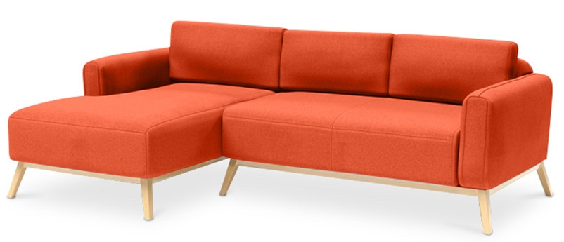 canap angle gauche tissu lin orange scandinave. Black Bedroom Furniture Sets. Home Design Ideas
