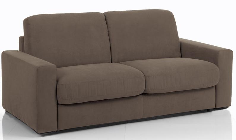 canap 3 places bultex rapido rev tement microfibre marron rosa. Black Bedroom Furniture Sets. Home Design Ideas