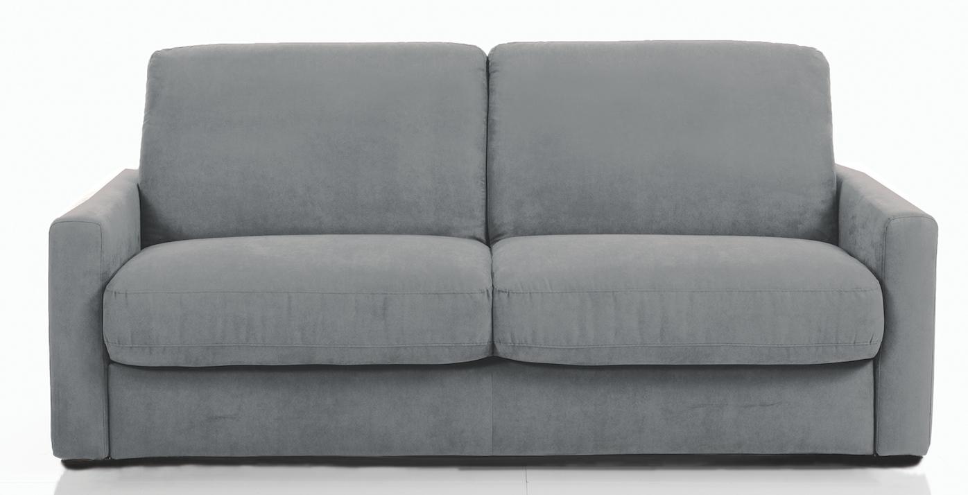 canap convertible bultex 3 places tissu gris souris kartier. Black Bedroom Furniture Sets. Home Design Ideas