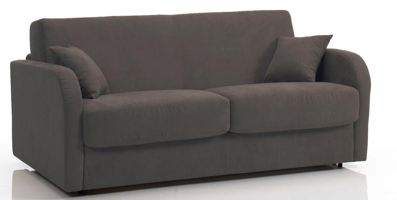 canap 3 places bultex rapido rev tement tissu gris fonc kare. Black Bedroom Furniture Sets. Home Design Ideas