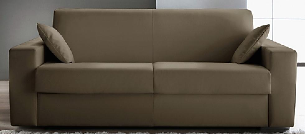 canap convertible rev tement cuir taupe konia mod le 1. Black Bedroom Furniture Sets. Home Design Ideas