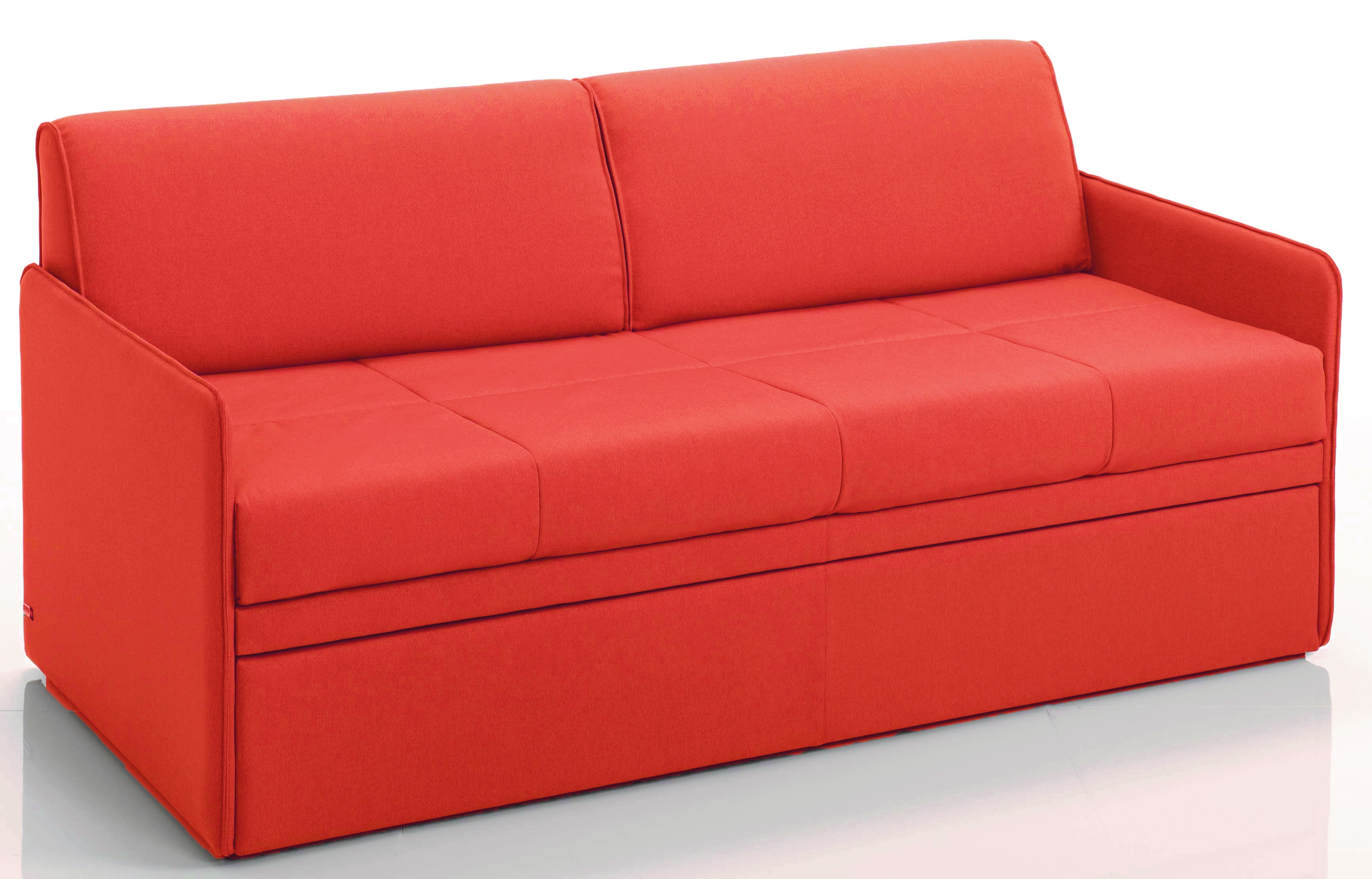 canap convertible gigogne 3 places microfibre orange cassis. Black Bedroom Furniture Sets. Home Design Ideas