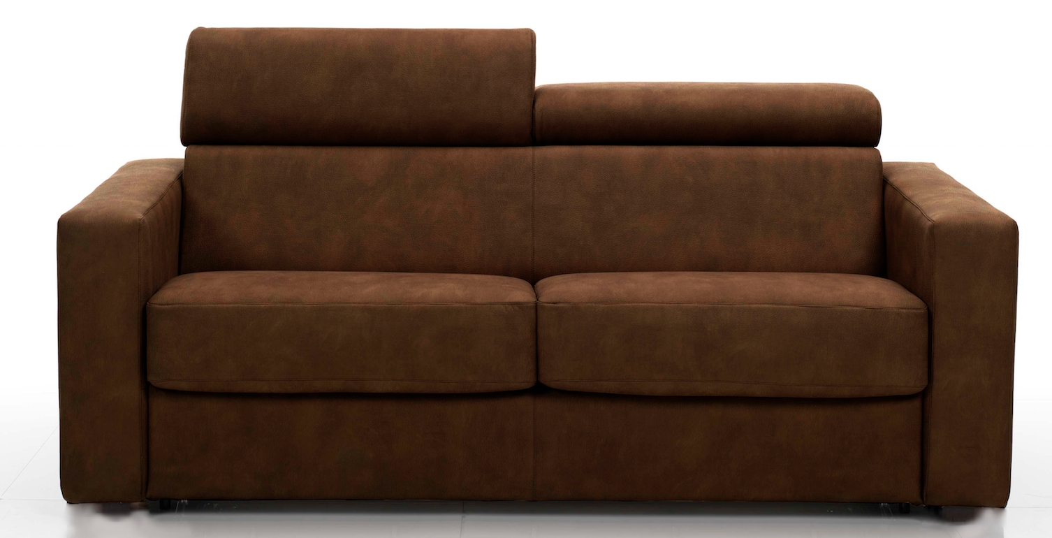 canap rapido avec t ti res rev tement tissu marron lova mod le 1 place. Black Bedroom Furniture Sets. Home Design Ideas
