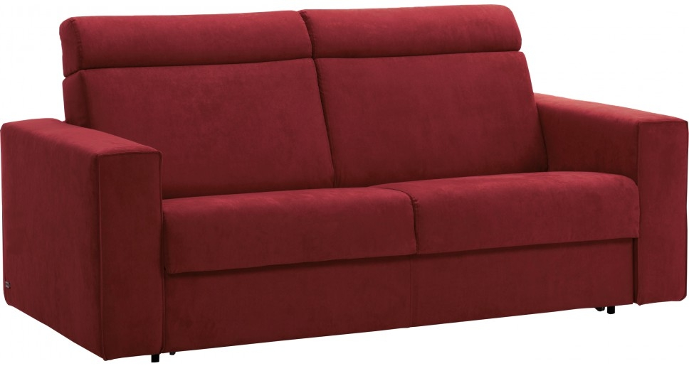 Canap convertible microfibre bordeaux haut dossier new york - Canape convertible bordeaux ...