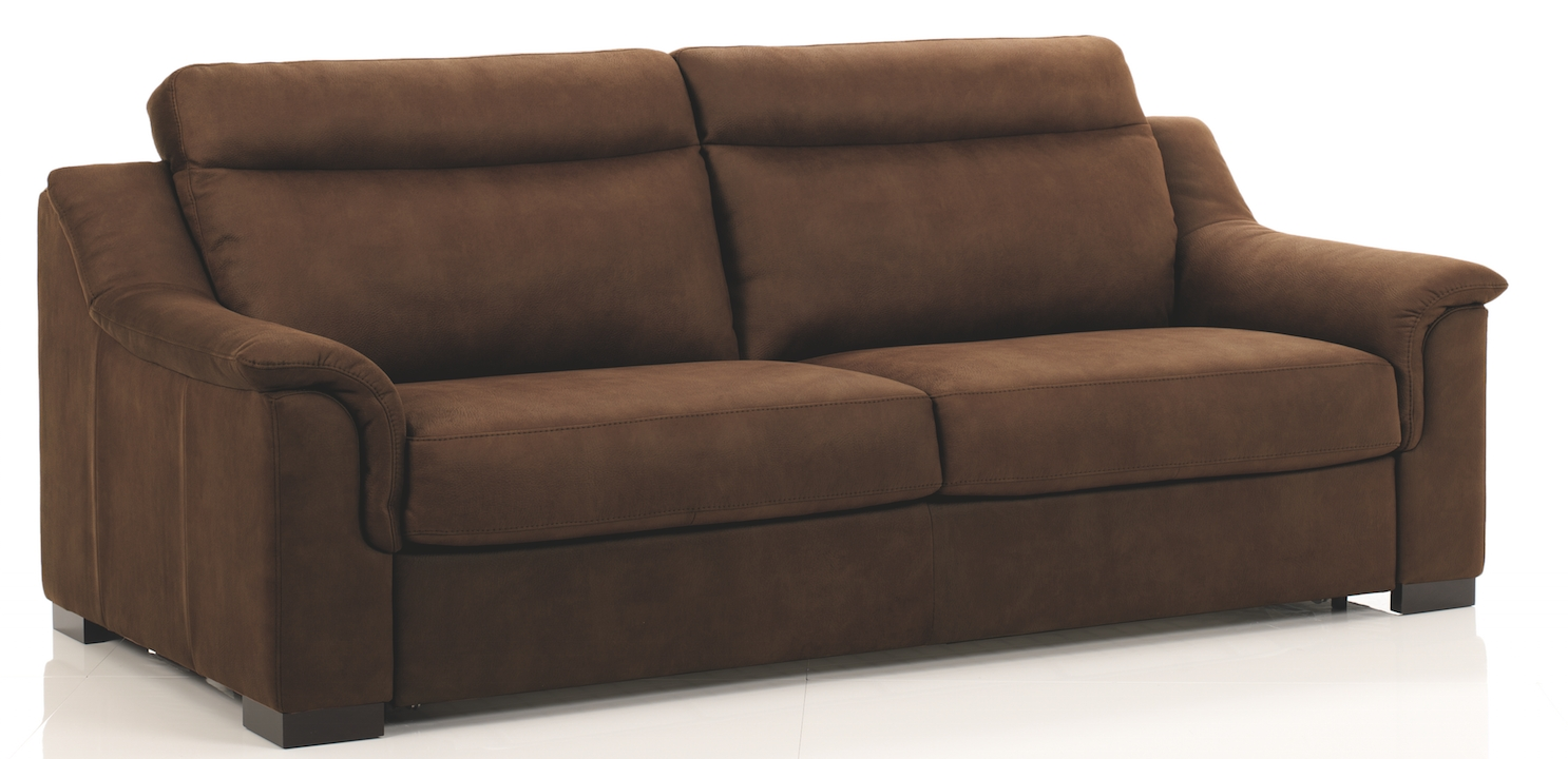 canap convertible rev tement microfibre marron helena mod le 2 places. Black Bedroom Furniture Sets. Home Design Ideas
